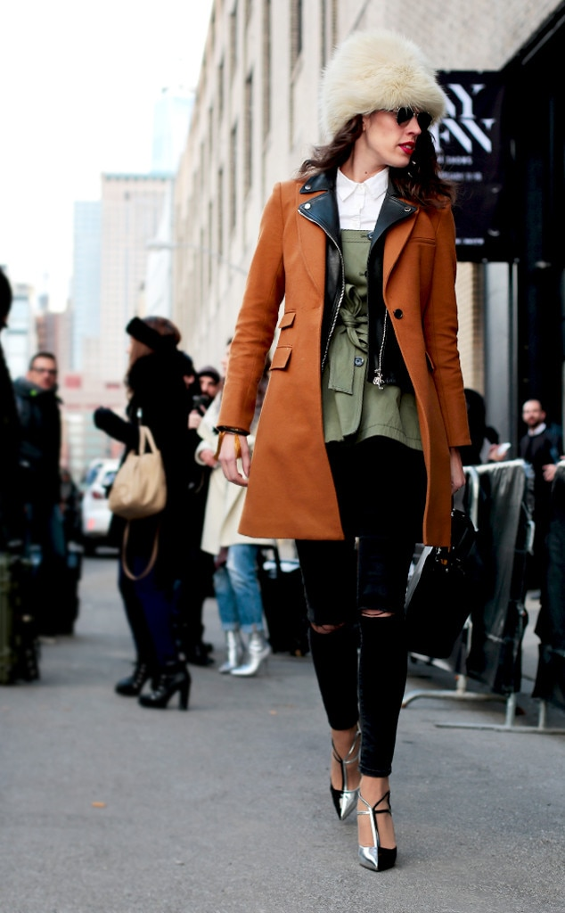 Arctic Inspired From Street Style At New York Fashion Week