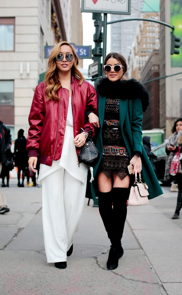 Trendy Ladies From Street Style At New York Fashion Week Fall 2016 E News