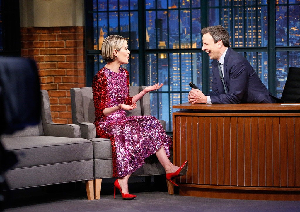 Sarah Paulson, Late Night With Seth Meyers