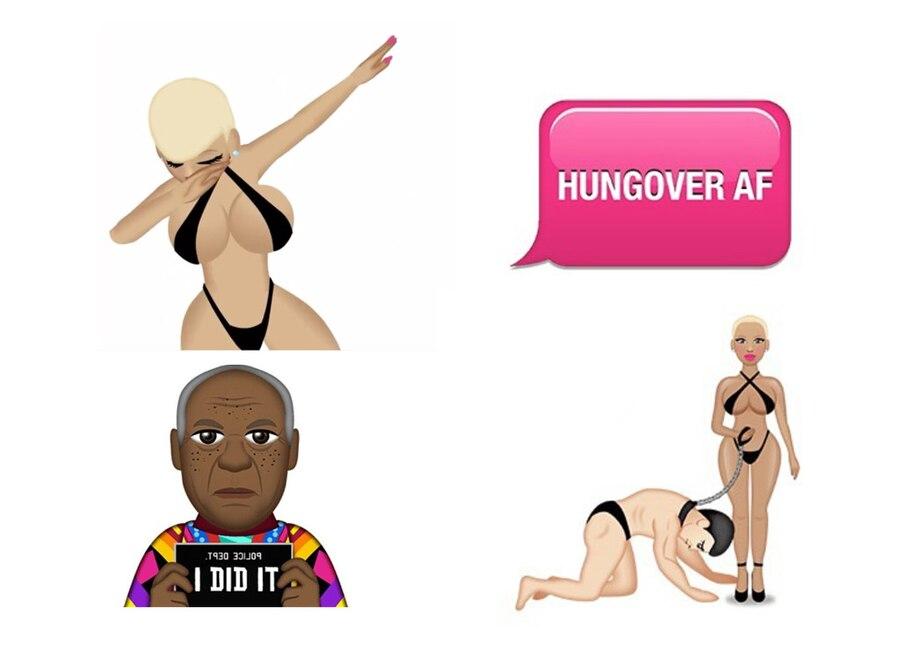 Best Celebrity Emojis, Amber Rose