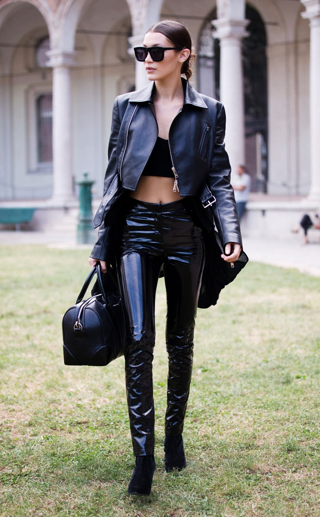 Latex And Leather From Bella Hadid S Street Style E News