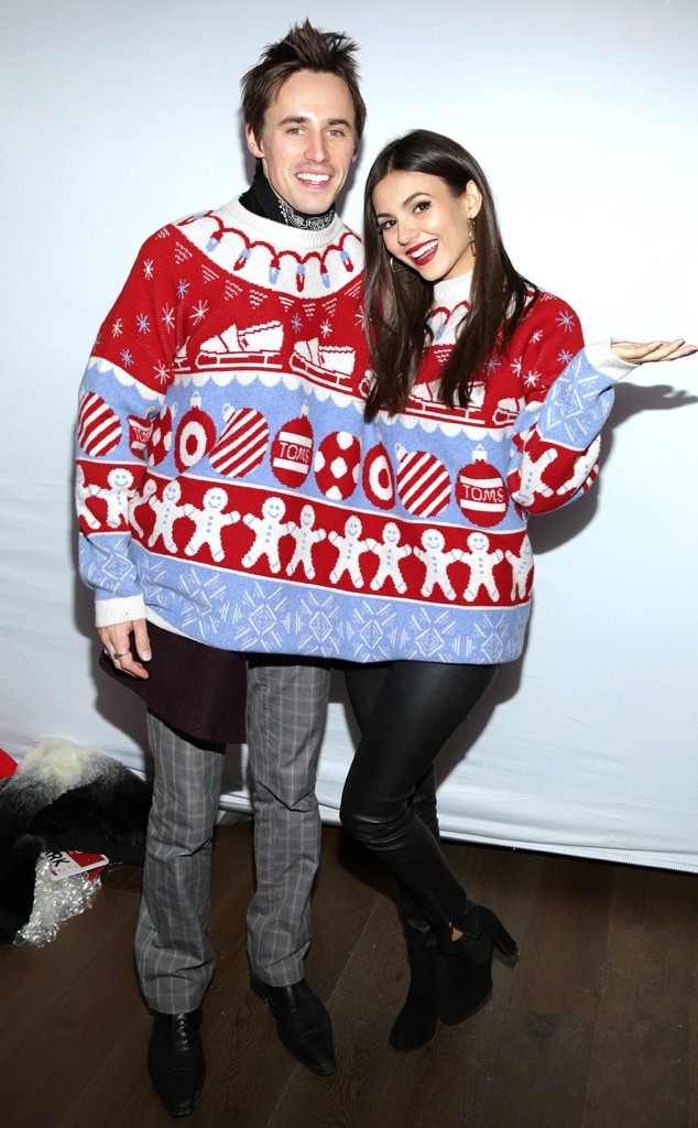 Victoria Justice and her boyfriend Reeve Carney