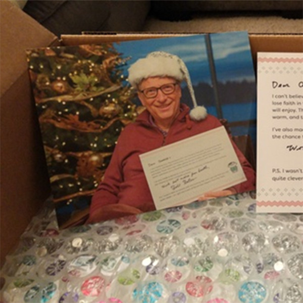 Is Bill Gates the Best Secret Santa? Reddit User Says He Sent Her Gifts?and Did His Homework