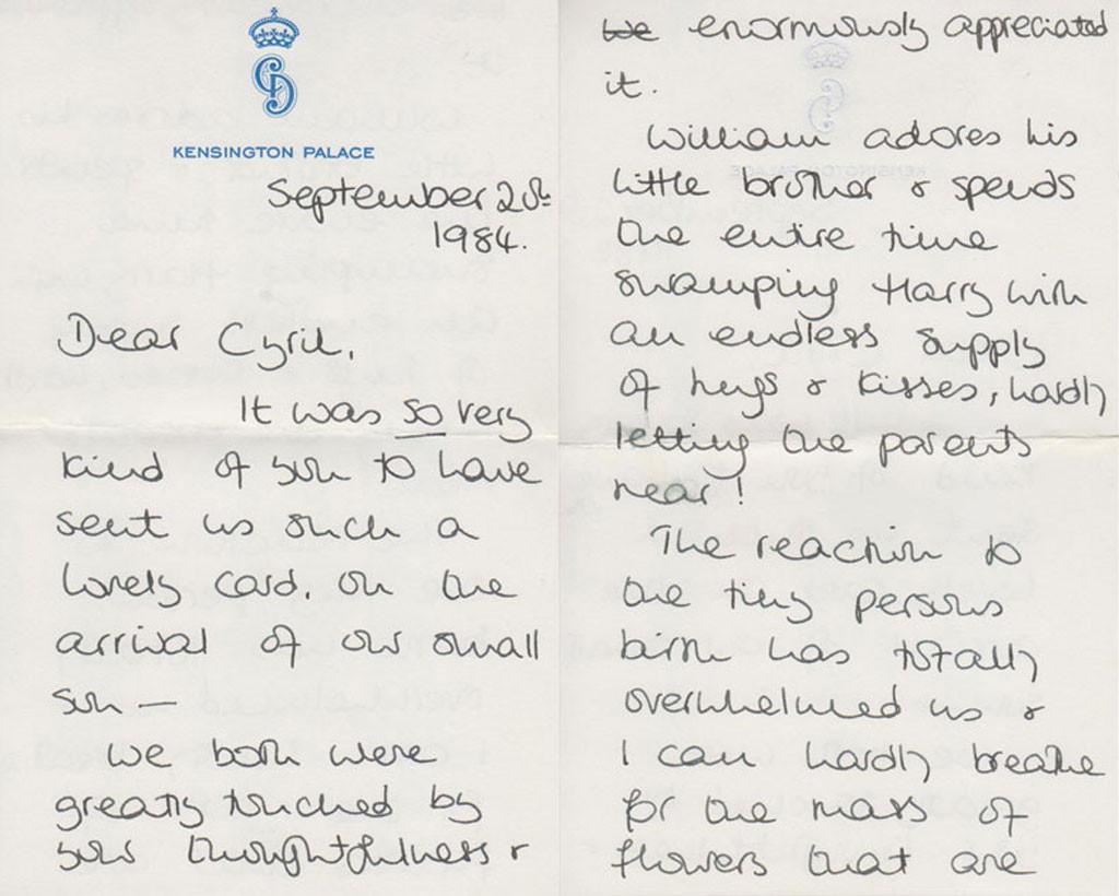 Princess Diana, Letters