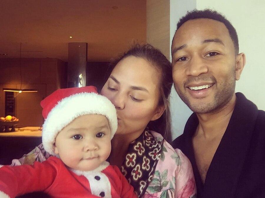 Chrissy Teigen, John Legend, Luna, Christmas