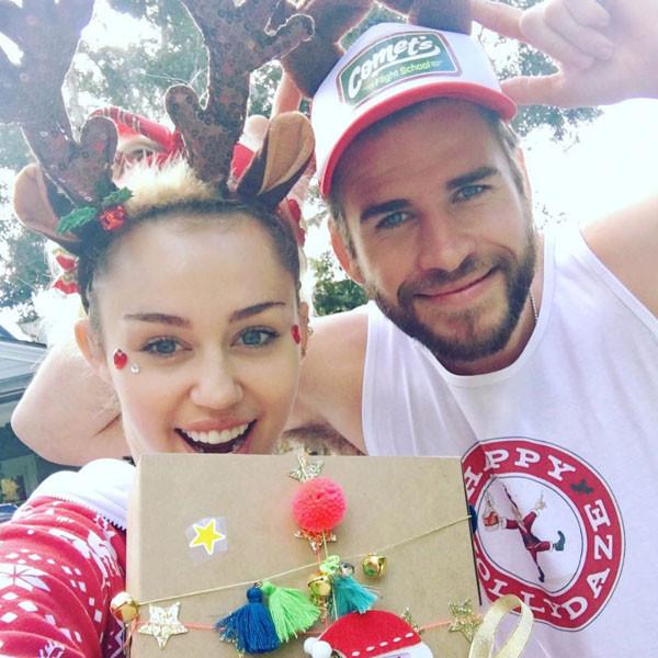 Miley Cyrus, Liam Hemsworth, Christmas