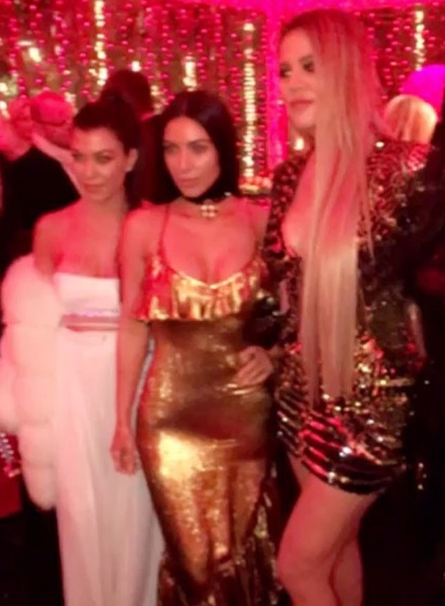 Kim Kardashian Sports Lip Ring During Family Christmas Party While Kylie Jenner Flashes New Diamond Necklace From Tyga