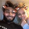 Sam Asghari, Britney Spears, Snapchat