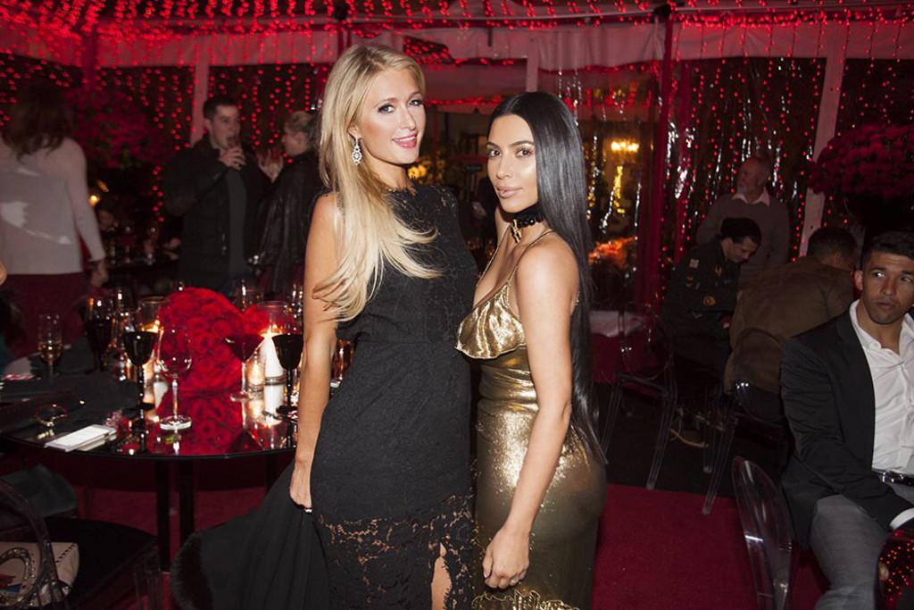 Kardashian Holiday Party, Paris Hilton, Kim Kardashian