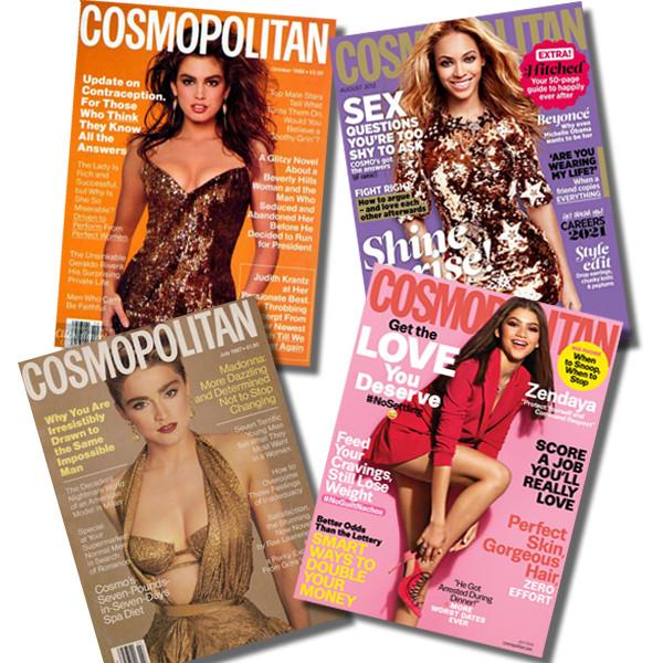 Cindy Crawford, Beyonce, Madonna, Zendaya, Cosmopolitan