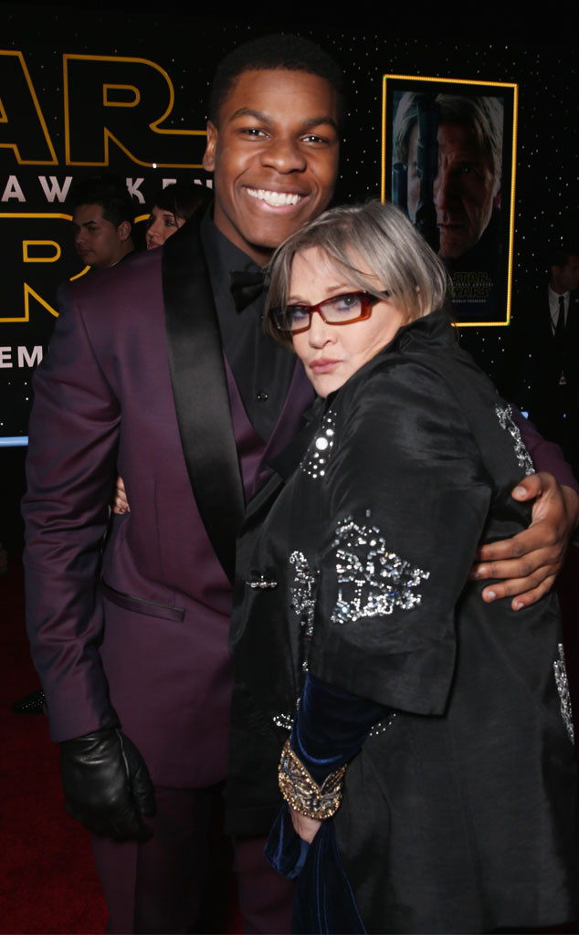 John Boyega, Carrie Fisher