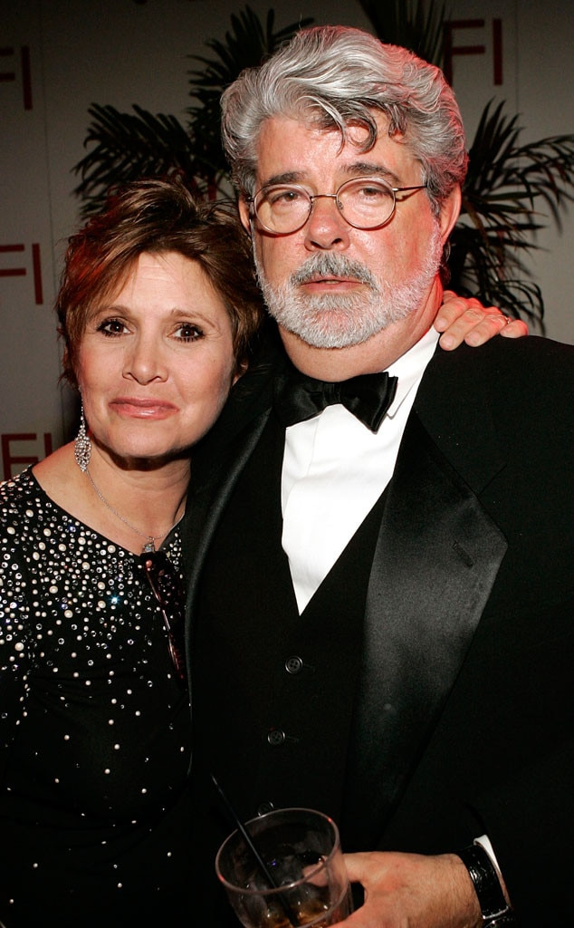 Carrie Fisher, George Lucas