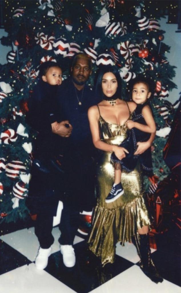 Kanye West, Kim Kardashian, Saint, North