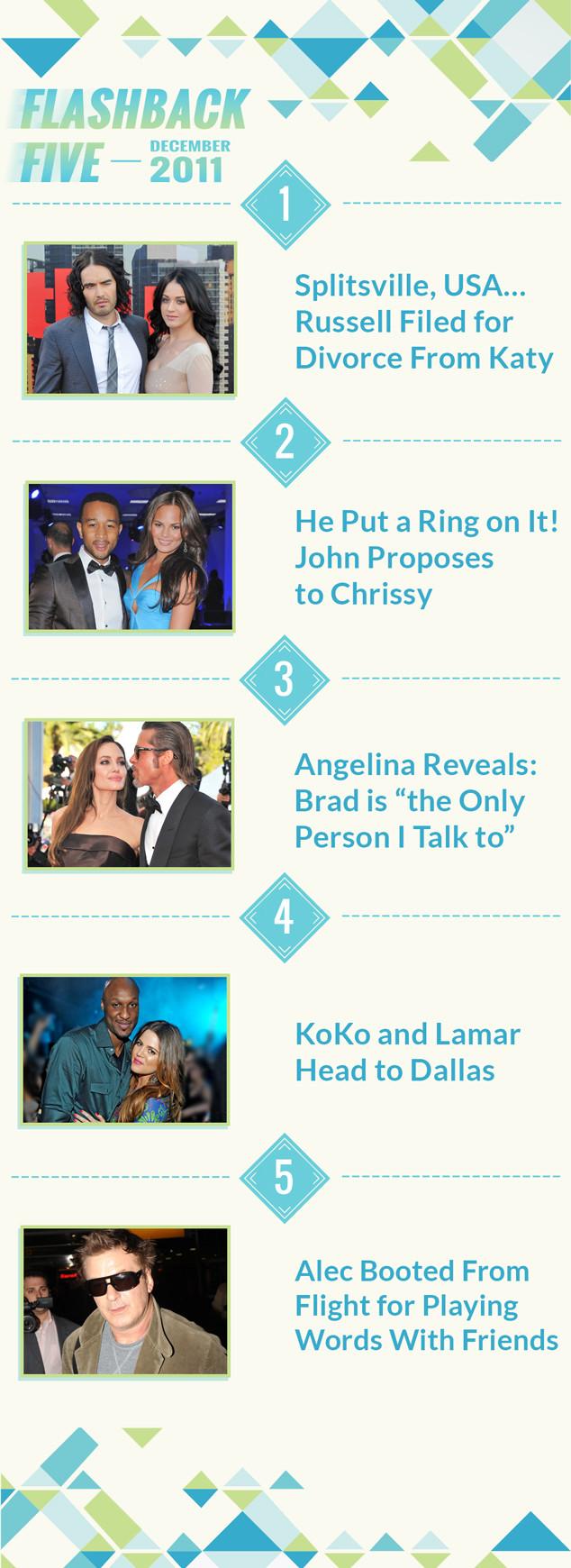 Flashback Friday! You Won't Believe the Biggest Celebrity Headlines Exactly 5 Years Ago