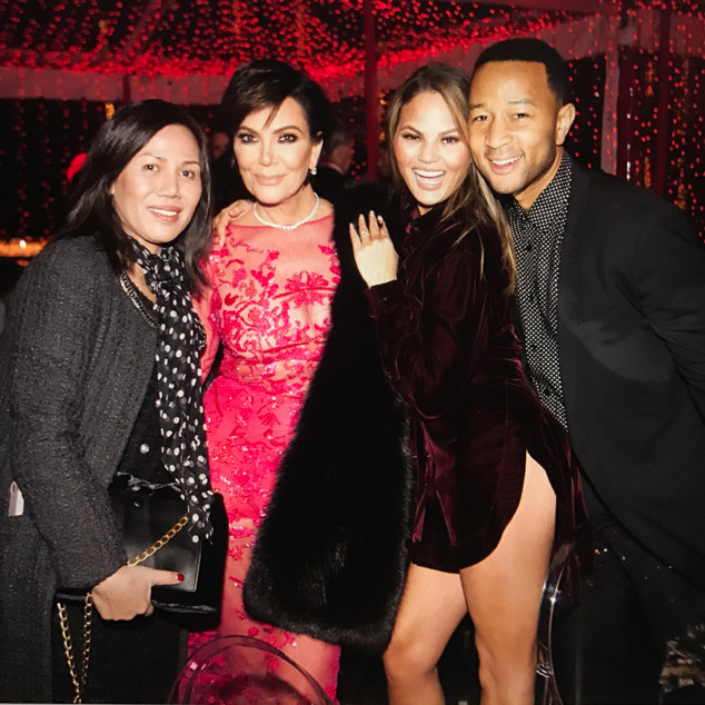 Kardashian Holiday Party, Kris Jenner, Chrissy Teigen, John Legend