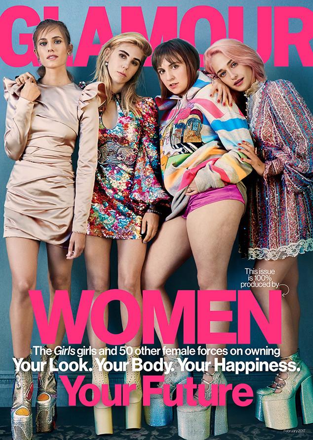 Girls, Lena Dunham, Allison Williams, Jemima Kirke, Zosia Mamet, Glamour