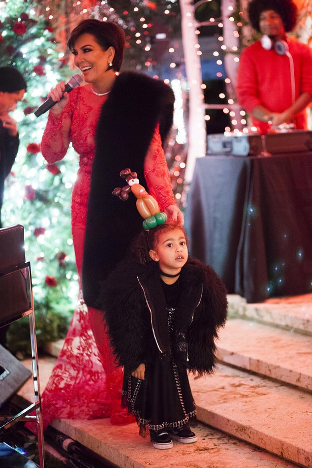 Kardashian Holiday Party, Kris Jenner, North