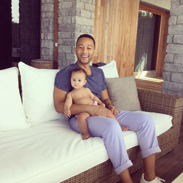 John Legend Celebrates His Birthday With Chrissy Teigen & Daughter Luna
