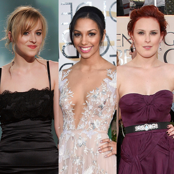 Miss Golden Globes, Dakota Johnson, Corinne Fox, Rumer Willis
