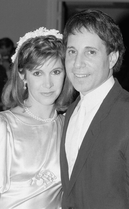 Paul Simon, Carrie Fisher, Wedding