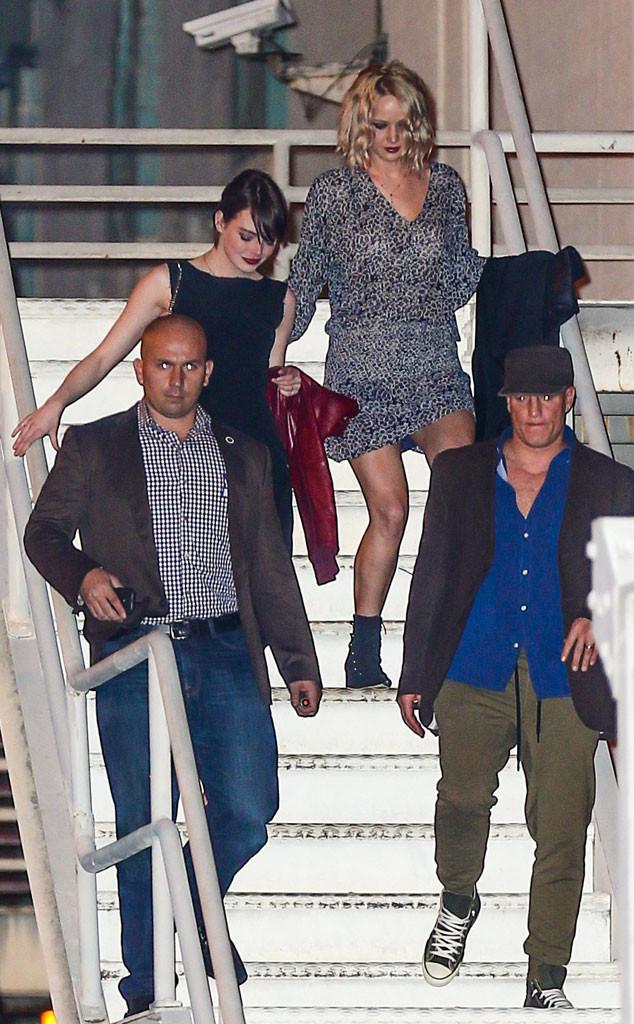 Jennifer Lawrence, Emma Stone, Woody Harrelson