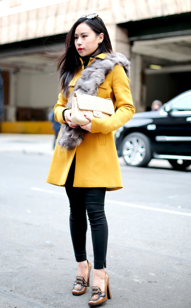 Mellow Yellow From Street Style At New York Fashion Week Fall 2016 E News