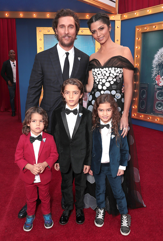 Matthew McConaughey, Camila Alves, Sing Premiere