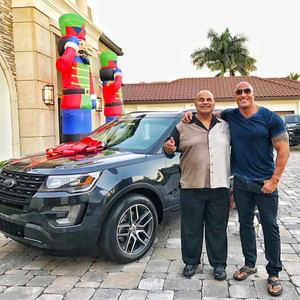 Dwayne Johnson Surprises His Dad With a Car for Christmas