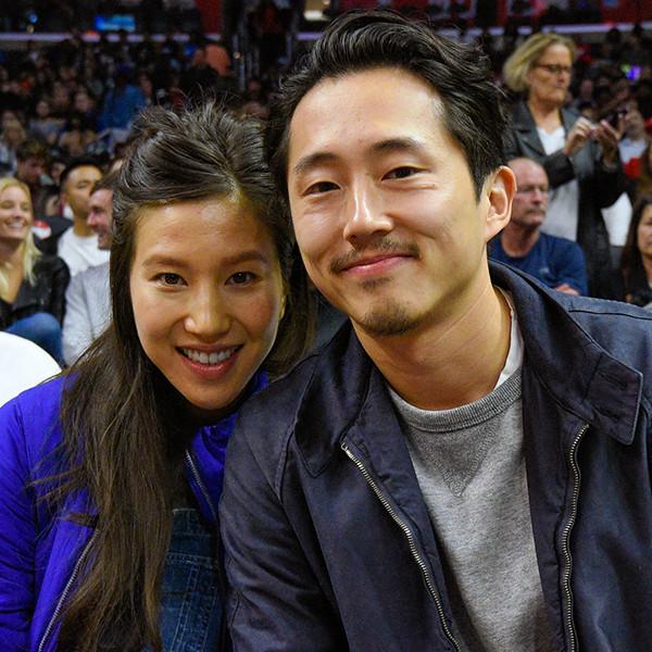 Steven Yeun, Joana Pak, Clippers Game