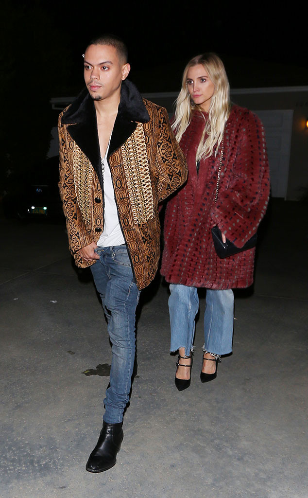 Evan Ross, Ashlee Simpson,  Day of Indulgence Party
