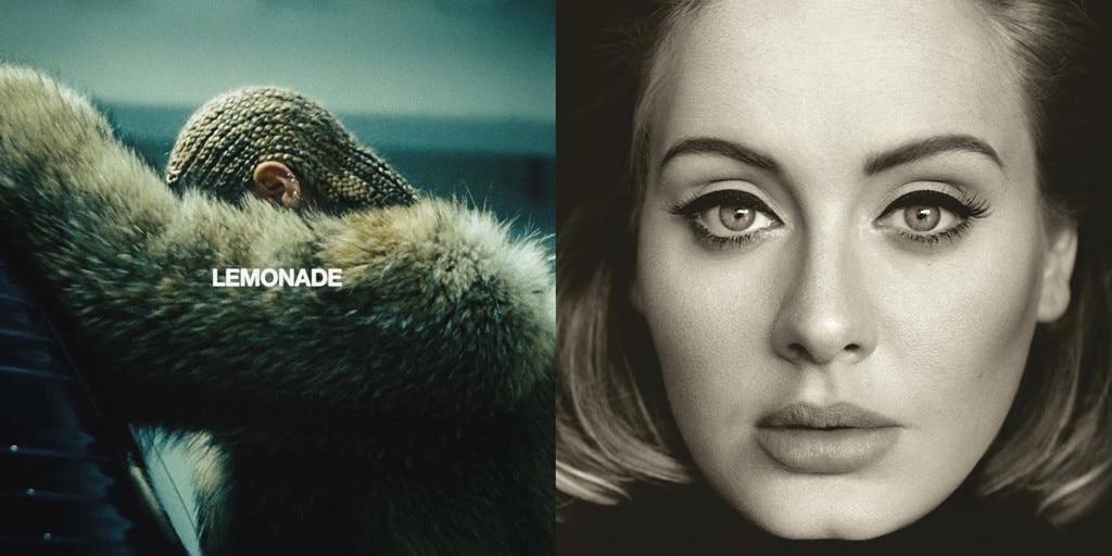Beyonce, Lemonade, Adele, 25
