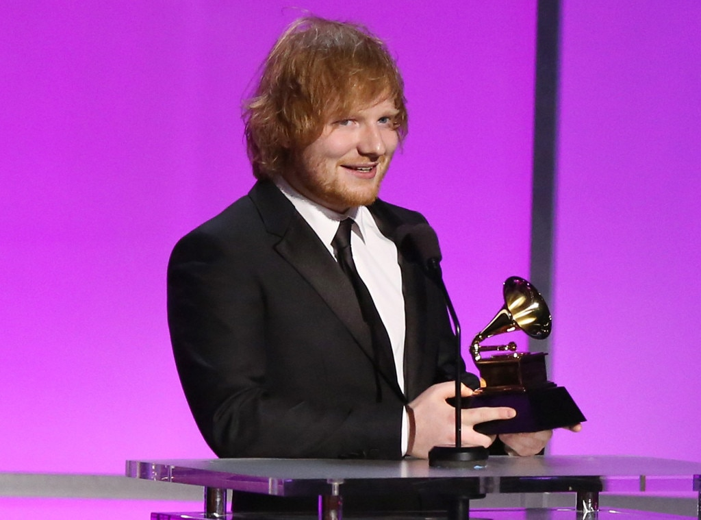 Ed Sheeran Just Won His First Grammy Ever And Taylor Swift