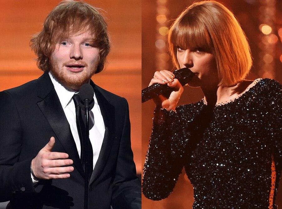 Ed Sheeran, Taylor Swift, 2016 Grammy Awards