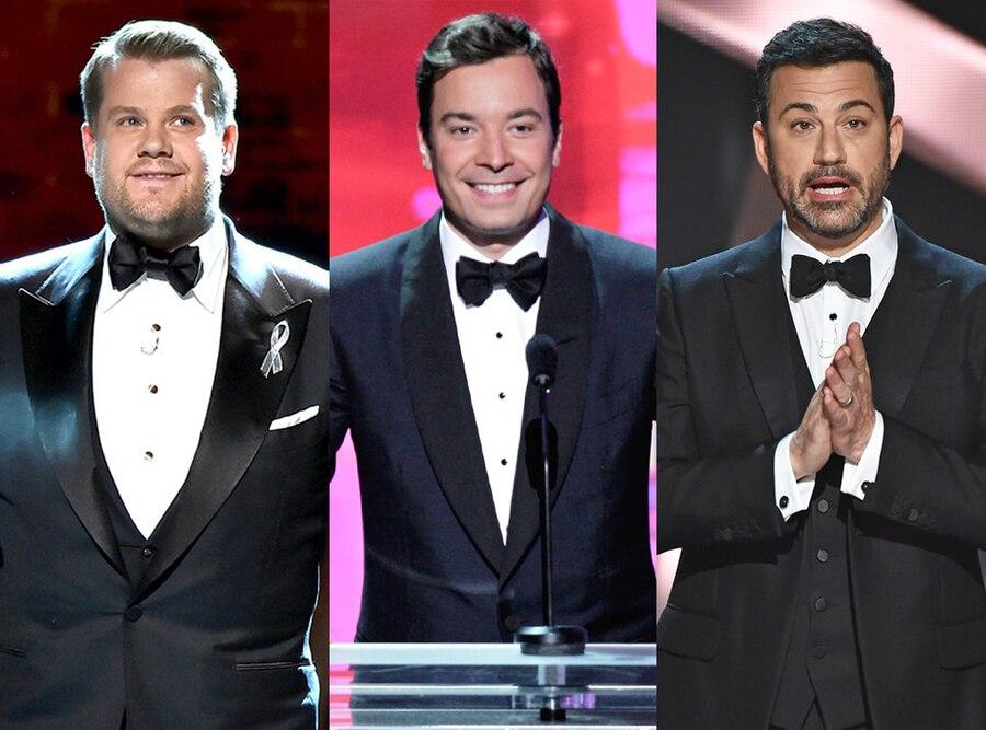 James Corden, Jimmy Fallon, Jimmy Kimmel
