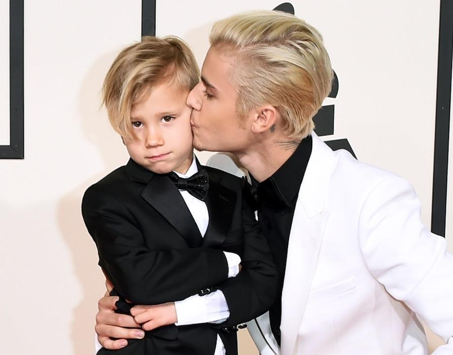 Justin Bieber, Jaxon Bieber, 2016 Grammy Awards, Candids