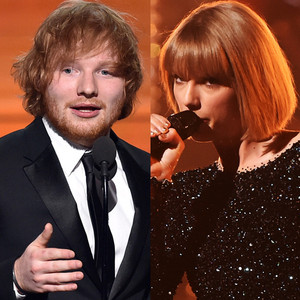 Ed Sheeran, Taylor Swift, 2016 Grammy Awards