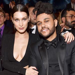 The Weeknd, Bella Hadid, 2016 Grammy Awards, Candids