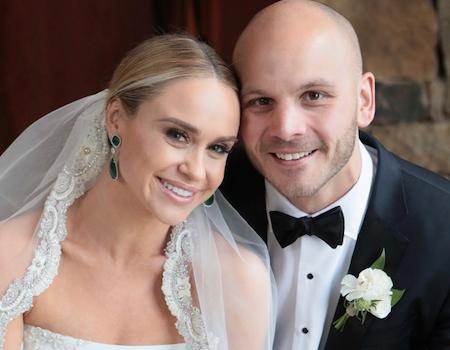 becca tobin marries zach martin as glee cast reunites at wedding e news uk. Black Bedroom Furniture Sets. Home Design Ideas