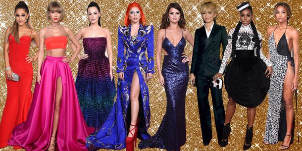Big Dress Split Grammy Awards 2016