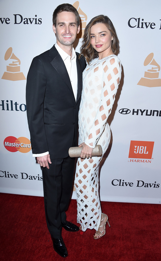 Miranda Kerry, Evan Spiegel, Engaged