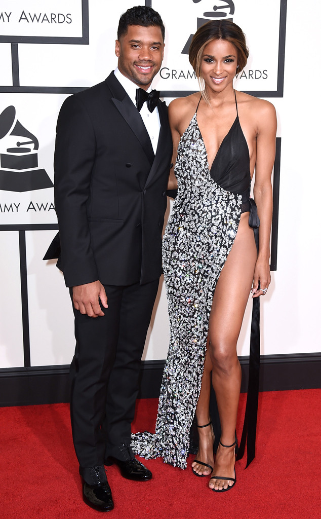 Russell Wilson, Ciara, 2016 Grammy Awards, Couples