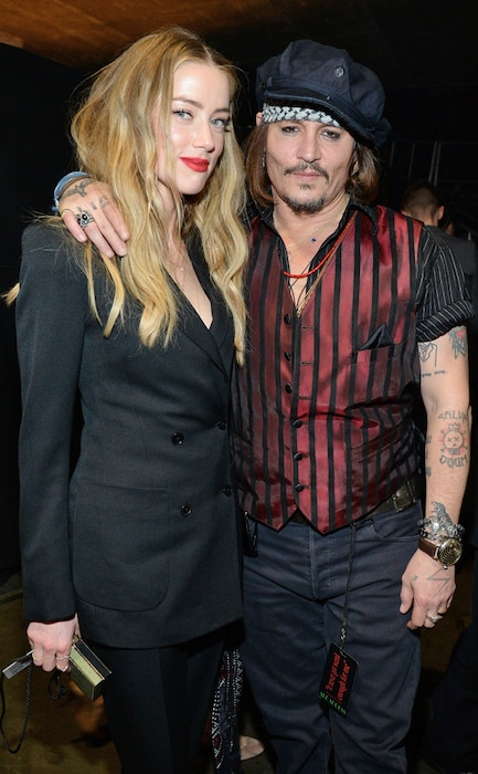 Amber Heard, Johnny Depp, 2016 Grammy Awards, Candids