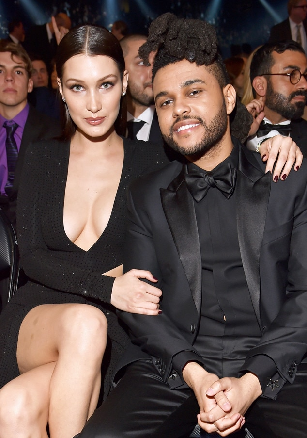 The Weeknd, Bella Hadid, 2016 Grammy Awards, Candids
