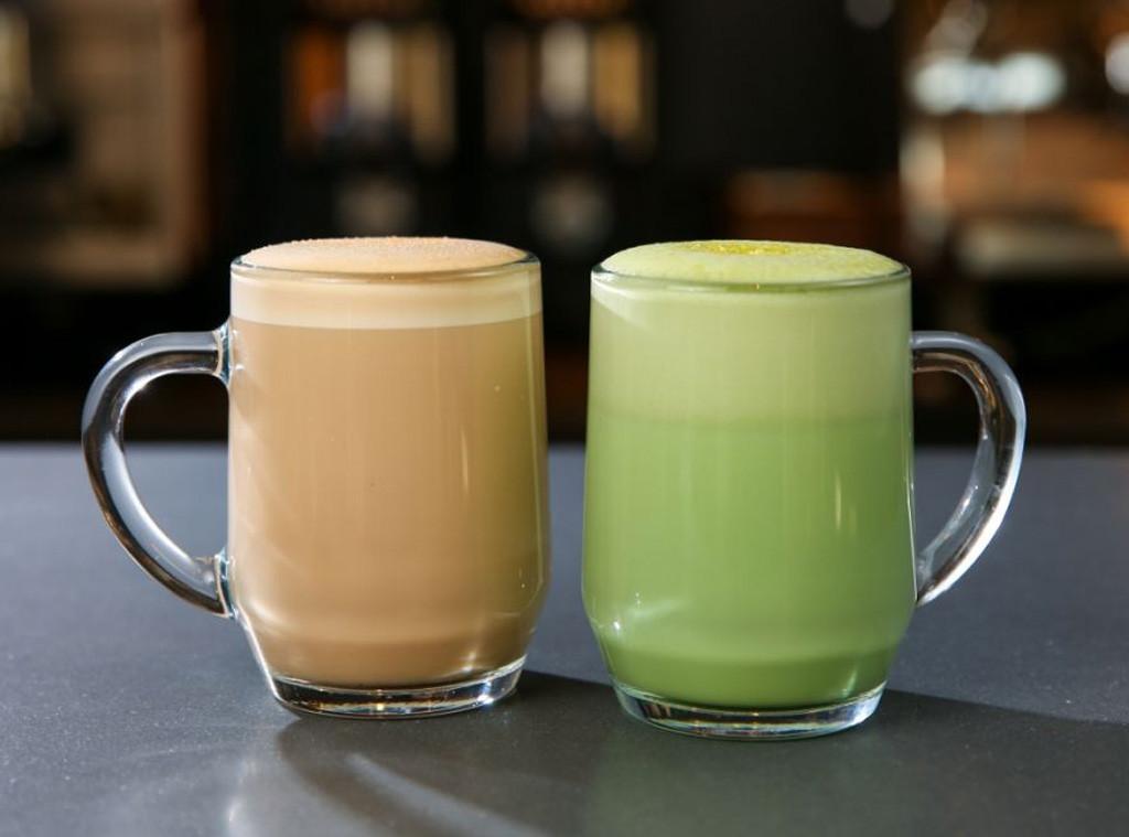 Starbucks, Smoked Butterscotch Latte, Teavana Citrus Green Tea Latte