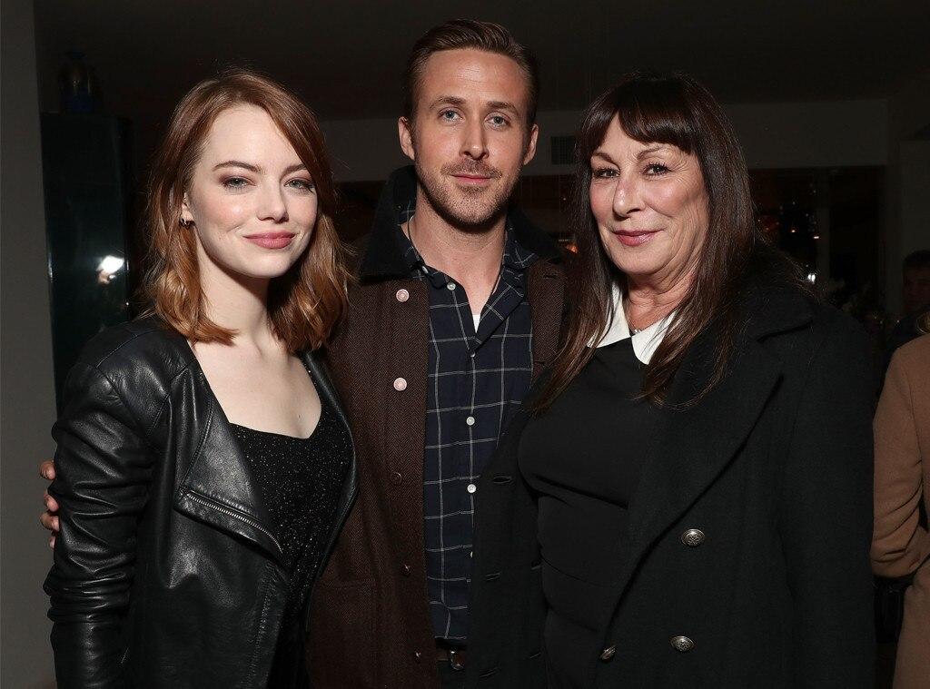 Emma Stone, Ryan Gosling, Anjelica Huston