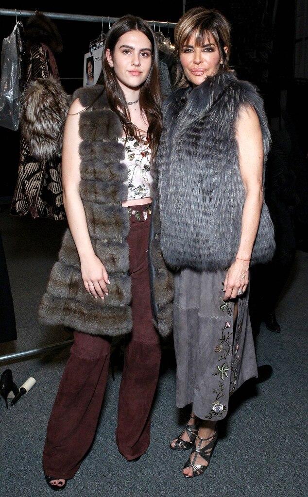 Amelia Gray Hamlin, Lisa Rinna, New York Fashion Week Star Sighting