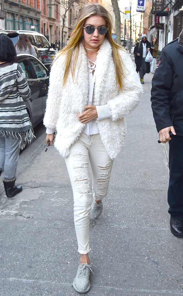Winter White From Gigi Hadid 39 S Street Style E News