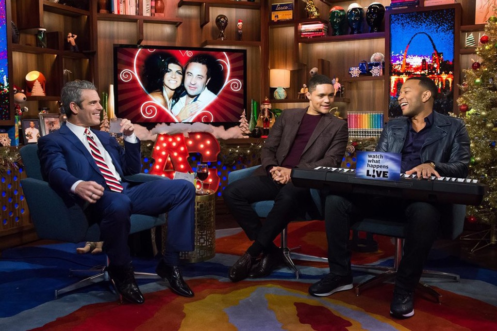 Andy Cohen, Trevor Noah, John Legend, Watch What Happens Live