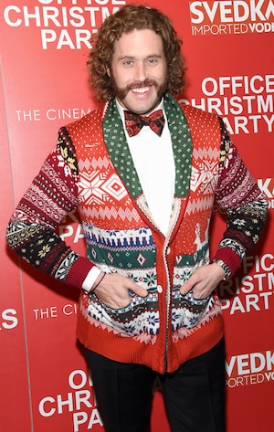 Stars Decked out in Holiday Gear,  T.J. Miller