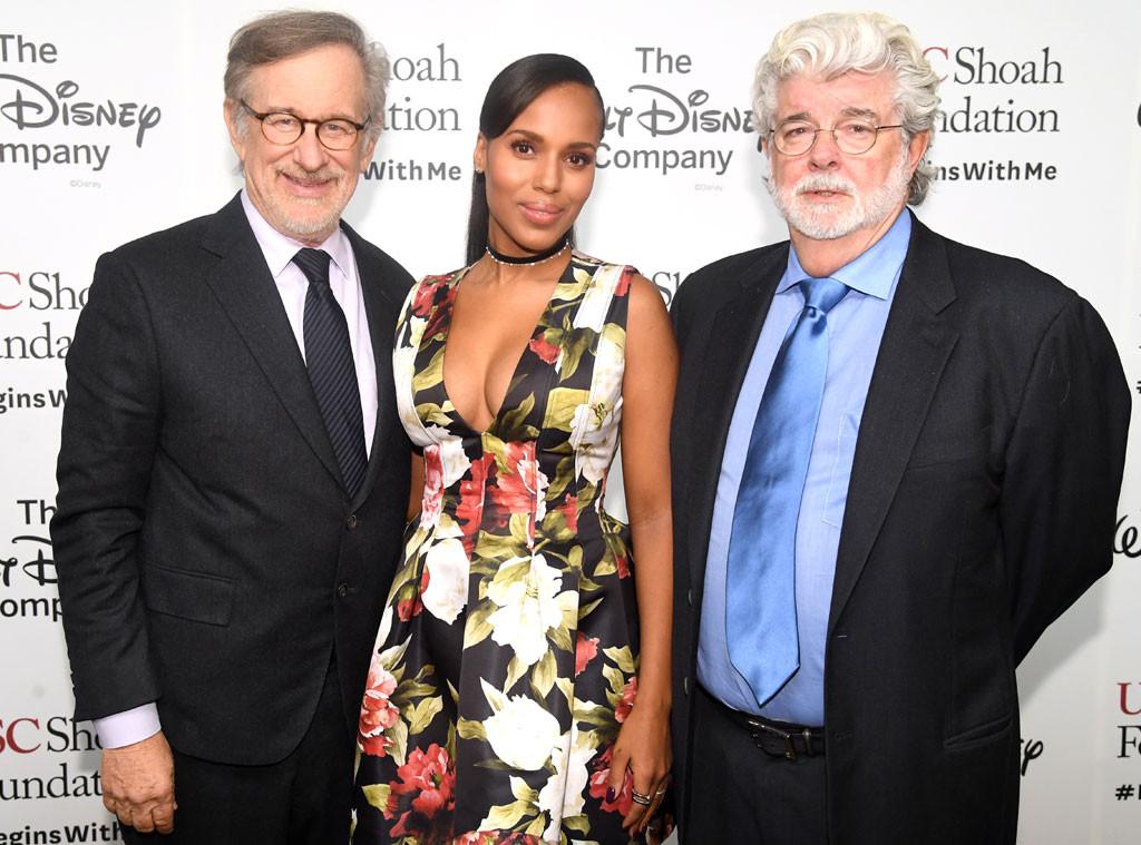 Steven Spielberg, Kerry Washington, George Lucas